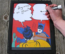 Batman Slap Meme Dry Erase Board
