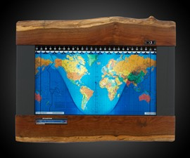 Geochron World Map & 24-Hour Clock