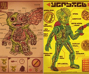 Movie Creature Anatomy Prints