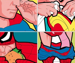 The Secret Lives of Superheroes Prints