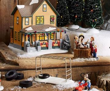 a christmas story village - A Christmas Story Village