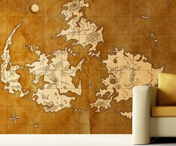 Final Fantasy VII World Map Mural on map tiles, map of america, map art ideas, map canvas painting, map wallpaper, map posters, map craft projects, map tattoo designs, map t-shirt designs, map border designs, map book covers, map wall decal, map still life, map wall art,