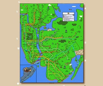 Ny York Subway Map.Super Mario New York City Subway Map