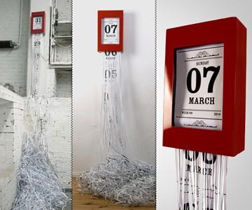 Chrono-Shredder Calendar and Clock