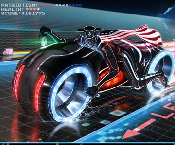Paul Revere's Midnight Ride on a Tron Light Cycle