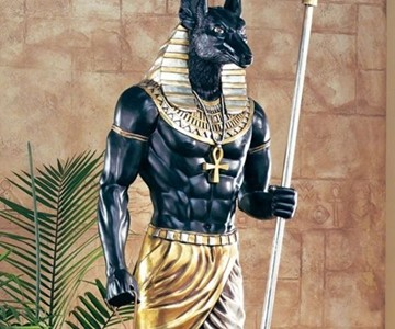 The Grand Ruler - Life-Size Anubis Sculpture