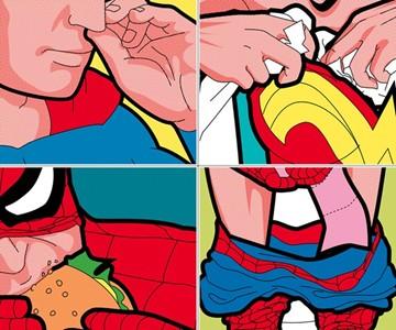 The Secret Lives of Superheros Prints