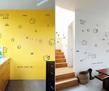 Video Game Wall Decals - Atari Asteroids