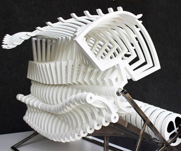 Bussola Mechanical Skeletel Sculpture