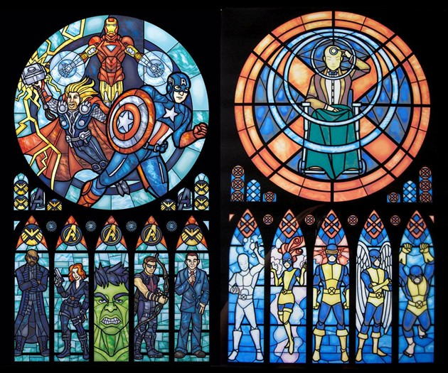 Superhero Stained Glass Prints