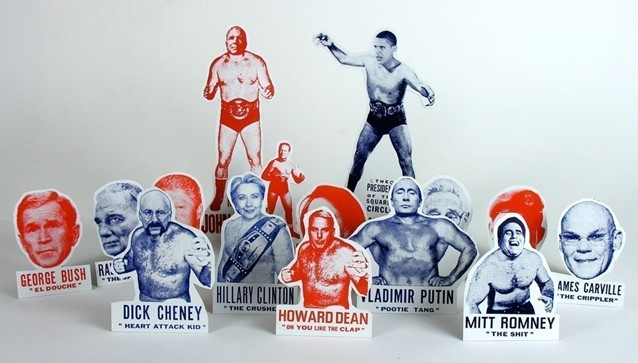 Presidential Wrestling Ornaments