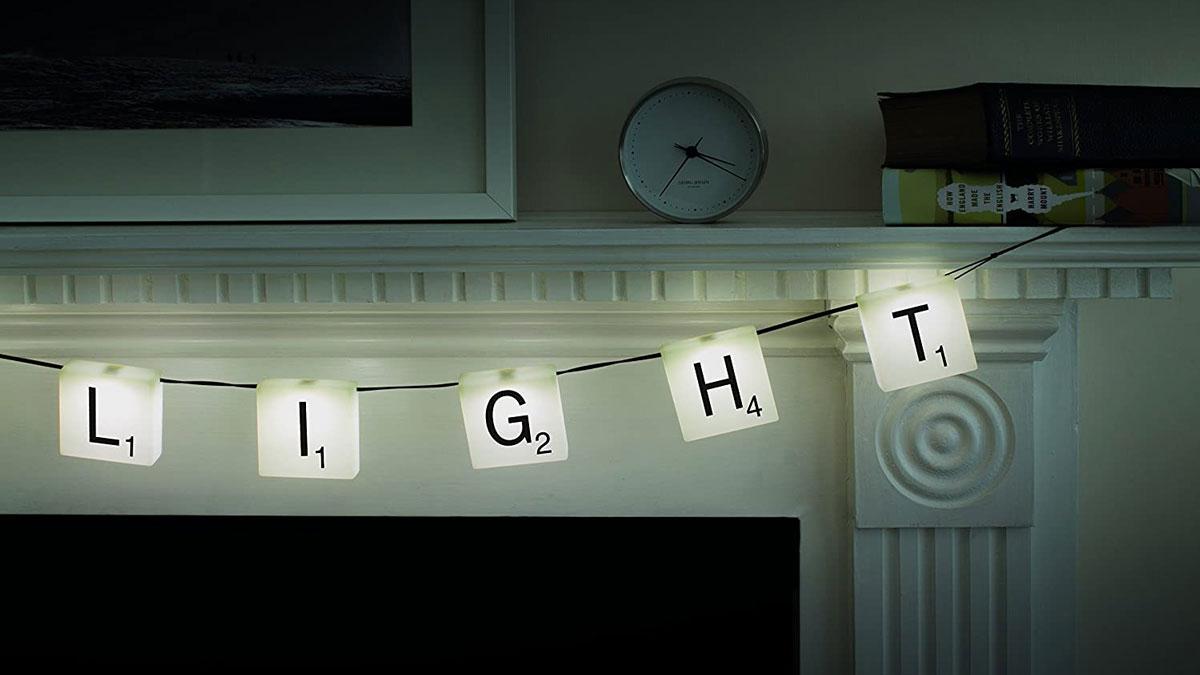 Scrabble Customizable Letter Tile String Light