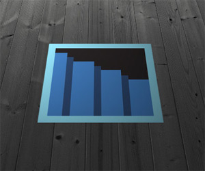 Secret Passage Floor Decal - Blue