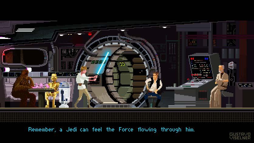 Pixel Art Star Wars Poster