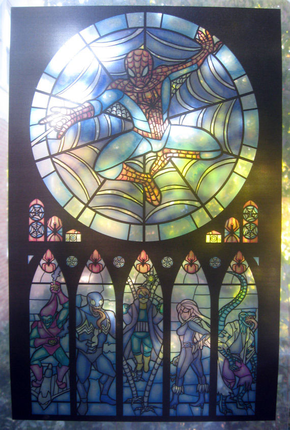Superhero Stained Glass Prints Dudeiwantthat Com