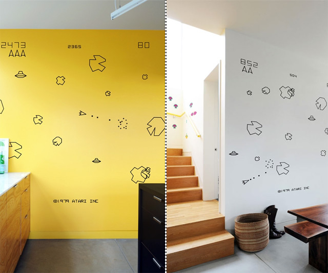 Beau Video Game Wall Decals   Atari Asteroids ...