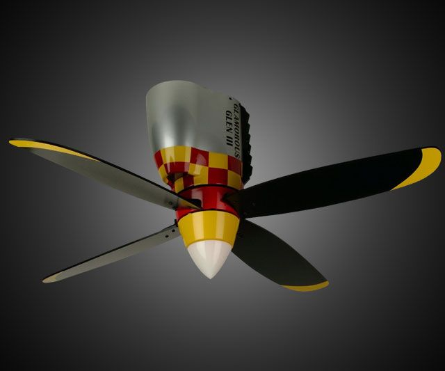 Warplane propeller ceiling fan - Propeller ceiling fans ...