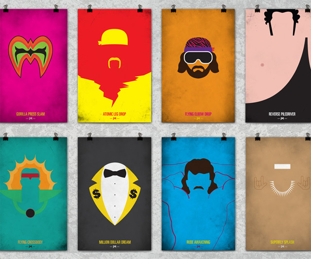 WWF Legends Minimalist Posters