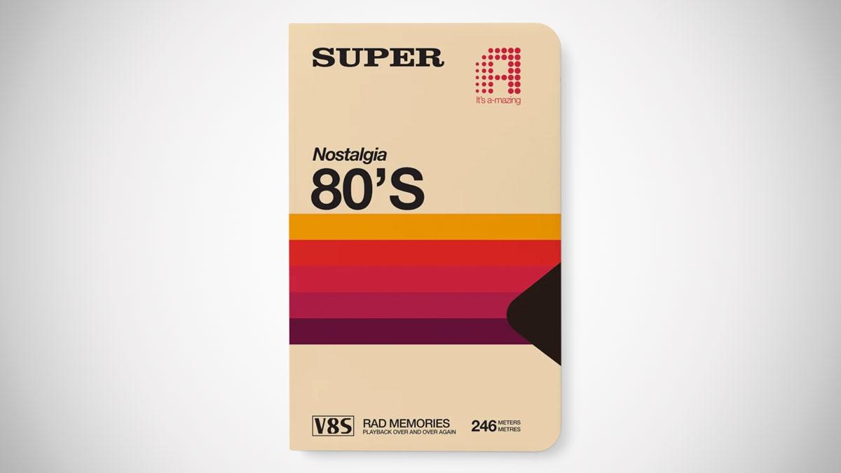 80s Super Tape Notebook