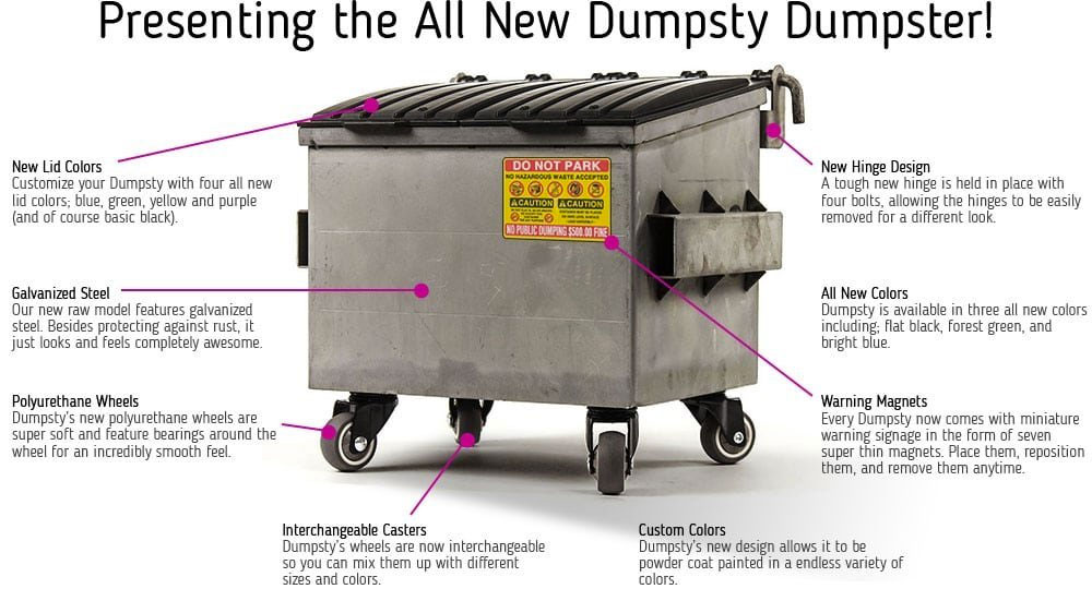 Dumpsty Steel Desktop Dumpster Dudeiwantthat Com