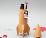 Cork Rocket Desk Organizer