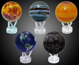 Sun-and-Earth-Powered Globes