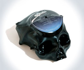 Custom Vinyl Record Skulls