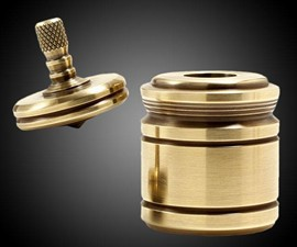 Solid Brass Paperweight & Top