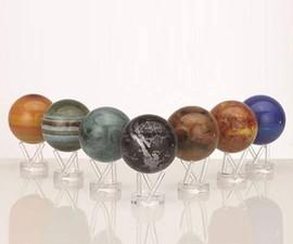Sun-and-Earth-Powered Globes