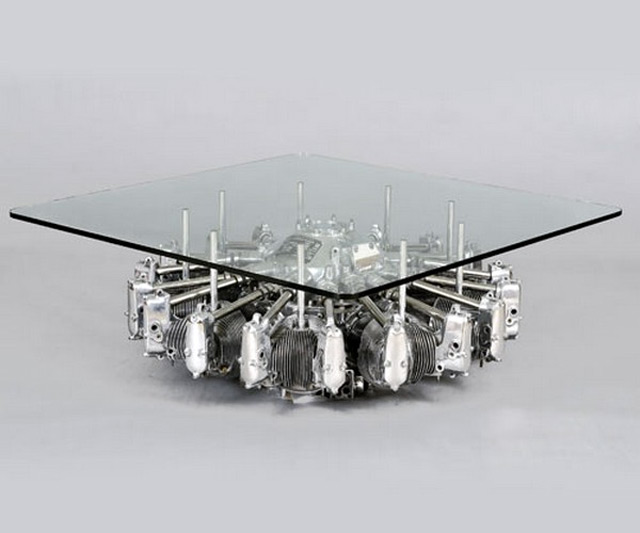 Airplane Engine Coffee Table ... - Airplane Engine Coffee Table DudeIWantThat.com