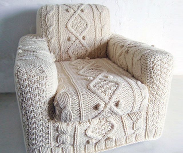 Bon Cable Knit Armchair Slipcover
