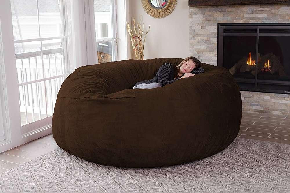 Chill Sack 8 Foot Bean Bag Chair Dudeiwantthat Com