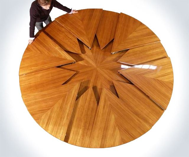 Expandable Table Round Home Design