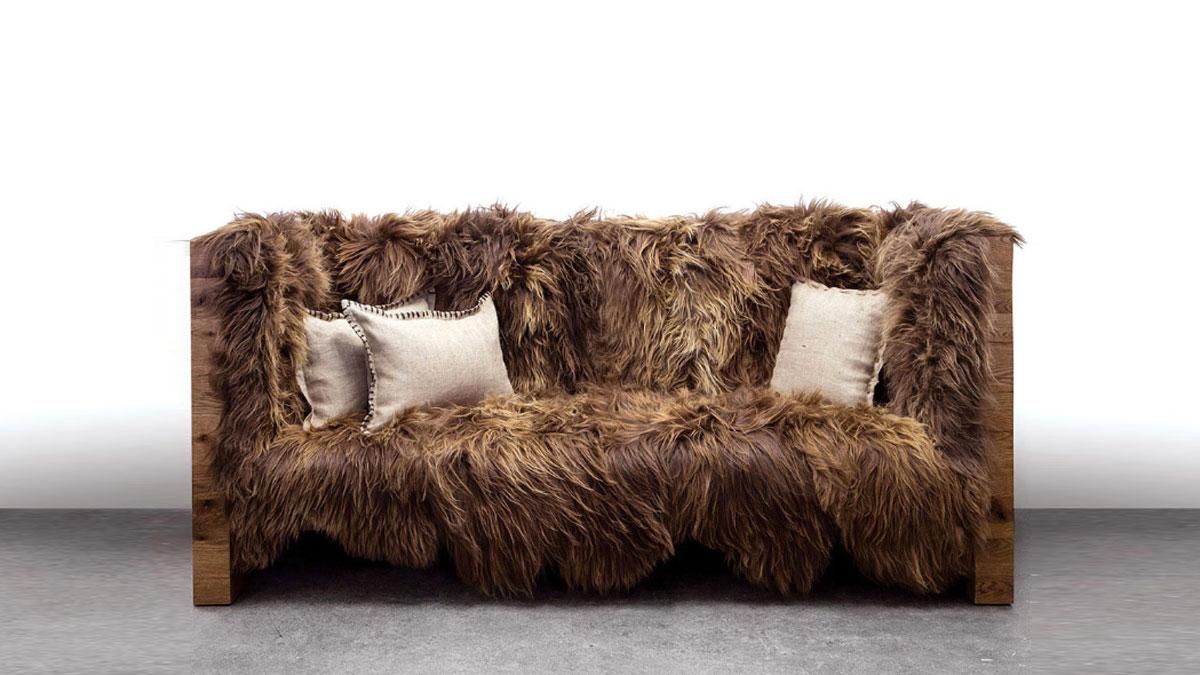 Icelandic Wool U0026 Reclaimed Oak Chewbacca Sofa ...