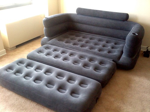 inflatable pull out sofa. Black Bedroom Furniture Sets. Home Design Ideas