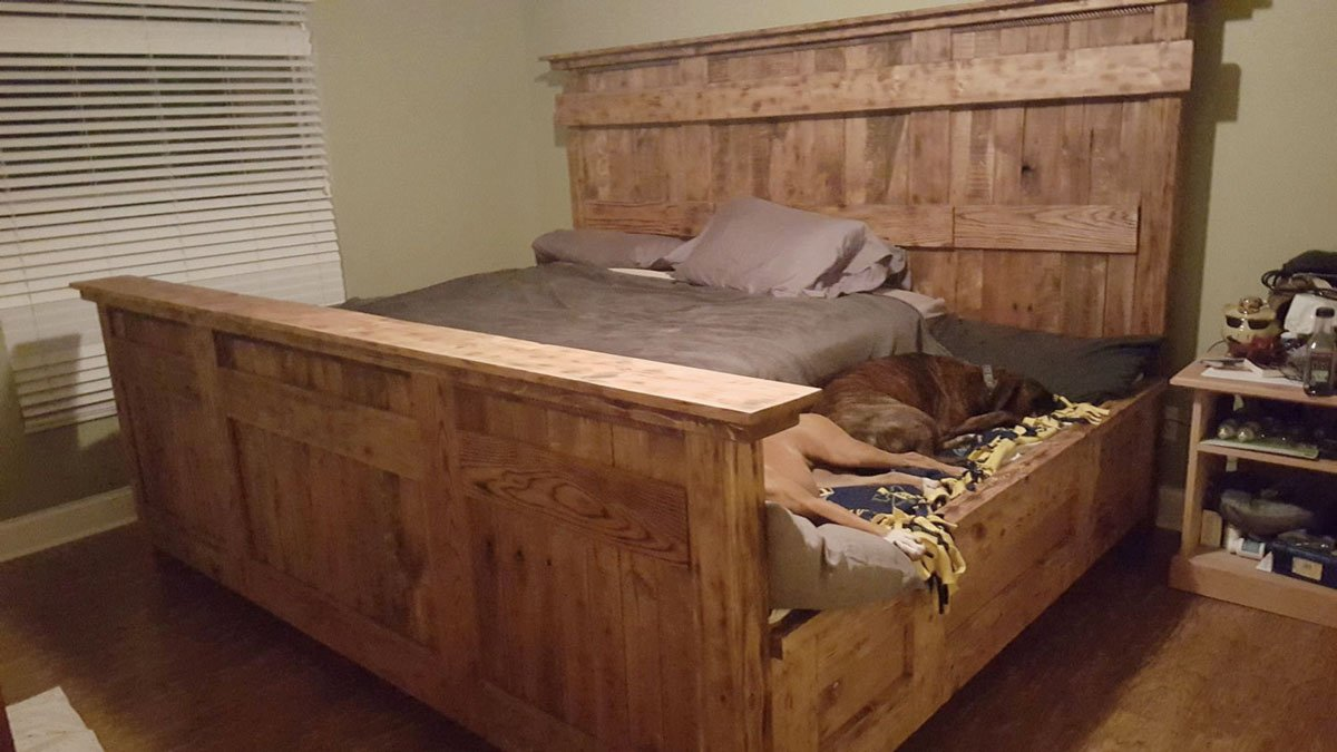 Ideal King Bed with Doggie Insert