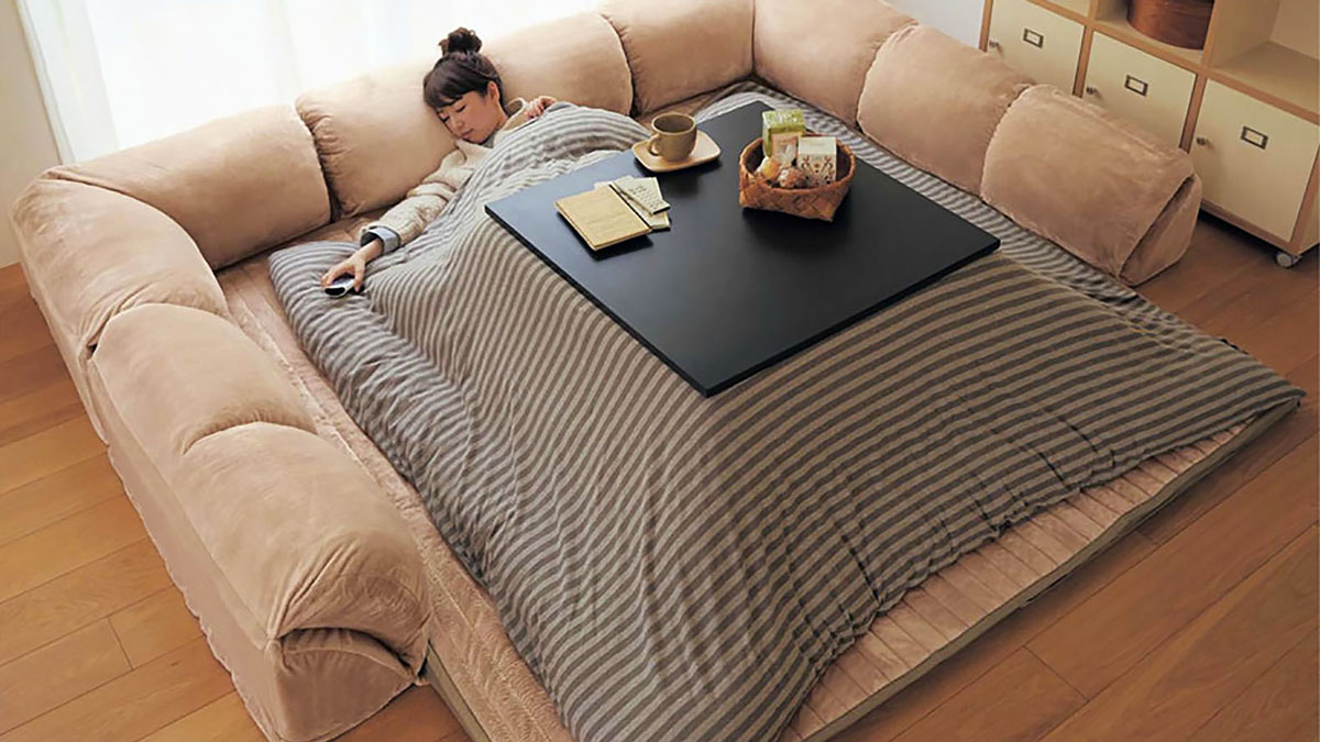 Kotatsu heated table for Sofa bed japan