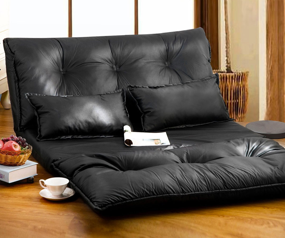 Merax pu leather leisure sofa for Low couch