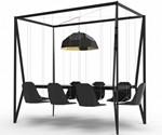 Black Swing Table