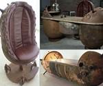 Marine Mine Chair, Desk, and Bathtub