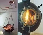 Marine Mine Swing and Fireplace