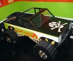 Monster Truck Bed with Skull & Bones