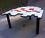 Pac-Man Ghost Table - Profile View