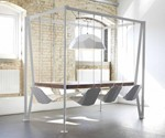 White Swing Table