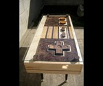 Working Nintendo Controller Coffee Table - Portrait View