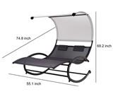 aCompatible Double Chaise Rocker