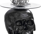 Lost Souls Gothic Skull Glass-Topped Table