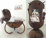 Marine Mine Coffee Table and Aquarium