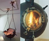 Marine Mine Swing and Fireplace