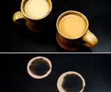 Mugs and Thermochromatic Rings on Heat Sensitive Table